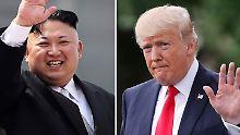 Nordkorea-USA-Konflikt: Kim oder Trump - wer zuckt zuerst?