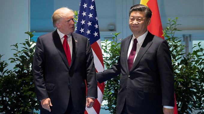Beim G20-Gipfel in Hamburg trafen sich Xi und Trump persönlich.