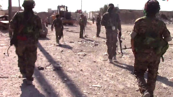 Vom US-Militär unterstützte syrische Truppen treiben den IS immer weiter zurück.