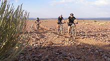 Fahrradtrip in Namibia: Entschleunigt durch die karge Steinwüste