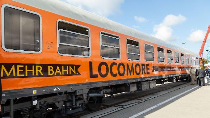 Rollen bald wieder von Berlin nach Stuttgart: die orangefarbenen Züge des Bahnunternehmens Locomore.