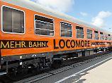 Rollen bald wieder von berlin nach Stuttgart: Die orangenen Züge des privaten Bahnunternehmens Locomore.