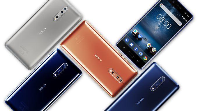 Das Nokia 8 ist das Topmodell der Finnen.