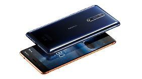 Das Nokia 8 kann auch in Hochglanz schimmern.