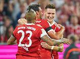 Glückwunsch, Niklas Süle! Der Verteidiger erzielt das erste Tor des Spiels.