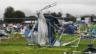Verletzte bei Festival in Bayern: Unwetter-Chaos hat Deutschland fest im Griff
