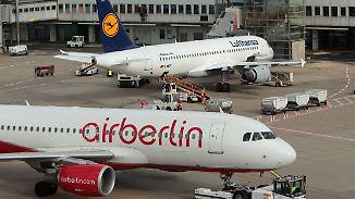 Lufthansa-Monopol auf vielen Strecken: Studie warnt vor hohen Preisen bei Air-Berlin-Übernahme