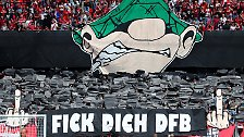 ... unverblümter Fankritik am DFB in allen Stadien, ...