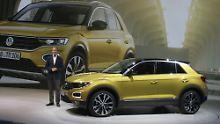 """Neuer Maßstab"": Dr. Herbert Diess präsentiert den Volkswagen T-Roc."