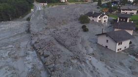 Riesiger Bergrutsch in der Schweiz: Einsatzkräfte suchen nach acht Vermissten