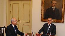 Ringen um Macht: Oppositionsführer Kemal Kilicdaroglu und Präsident Recep Tayyip Erdogan.