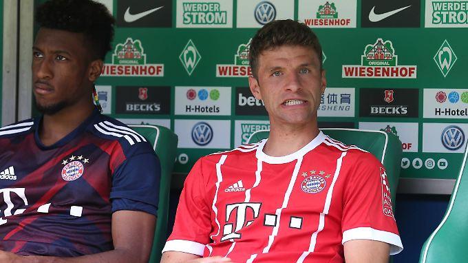 Müller saß gegen Bremen wie auch Kingsley Coman die meiste Zeit nur auf der Bank.