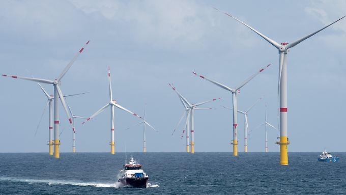 In der Nordsee rotieren 953 Windkraftanlagen. Ihre Lebensdauer ist auf 25 Jahre ausgelegt.