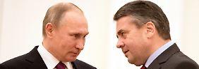 Wladimir Putin und Sigmar Gabriel bei einem früheren Treffen.