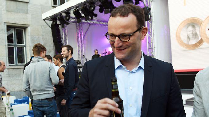 Jens Spahn am Sonntag beim Tag der offenen Tür im Bundesfinanzministerium. Dort ist er seit 2015 Staatssekretär.
