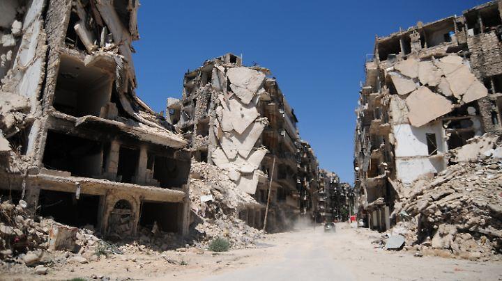 Das zerbombte Aleppo im Juni 2017. Bis zu seiner Flucht hat Husan hier studiert.