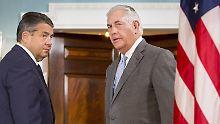 Vizekanzler auf USA-Kurzbesuch: Gabriel verurteilt US-Sanktionspolitik