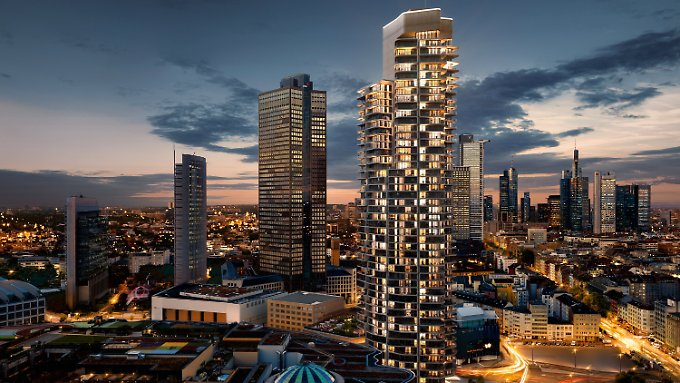 """Der """"Grand Tower"""" im Frankfurter Europaviertel soll Deutschlands höchster Wohnturm werden."""