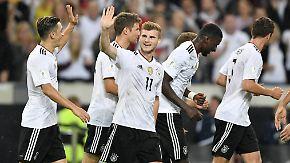 """""""Der kleine Junge macht das gut"""": DFB-Spieler überschütten Timo Werner mit Lob"""