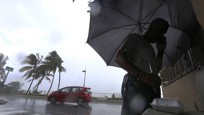 "Hurrikan ""Irma"" trifft auf die Karibik."