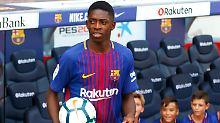 """""""Die letzten fünf Tage war es sehr warm und da habe ich das gelassen"""": Ousmane Dembélé."""