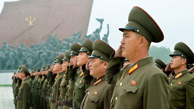 Nordkorea ist hochgerüstet.