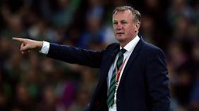 Michael O'Neill trifft mit Nordirland in der WM-Qualifikation auch auf Deutschland.