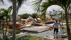 Zerstörtes Haus in Florida.
