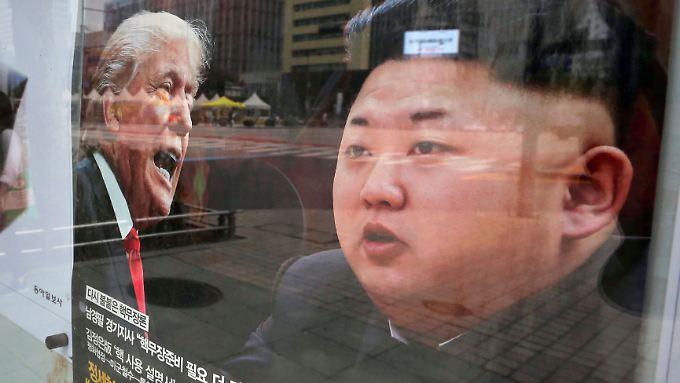 Werbung in Seoul: Ein südkoreanisches Nachrichtenmagazin beschäftigt sich in seiner Titelstory mit der Nordkorea-Krise.