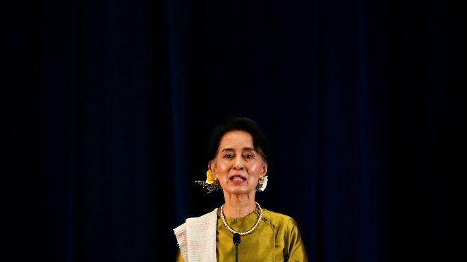 Friedensnobelpreisträgerin Aung San Suu Kyi.