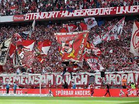 """""""Gemeinsam nach Europa"""", hieß es in der Kölner Südkurve - vor dem entscheidenden Spiel zur direkten Qualifikation im vergangenen Mai."""