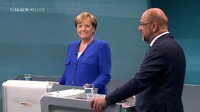 Das TV-Duell war offenbar nicht der erhoffte Befreiungsschlag für SPD-Kanzlerkandidat Martin Schulz.