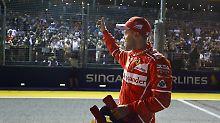 F1-Qualifying in Singapur: Vettel rast zur Pole, Hamilton schwächelt