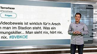 n-tv Netzreporter: Fußballfans zeigen dem #Videobeweis digital die rote Karte