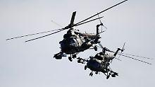 Militär dementiert Vorfall: Kampfhubschrauber schießt auf Zivilisten