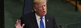 Von Rassismus nicht weit weg: Trump erklärt den Vereinten Nationen die Welt