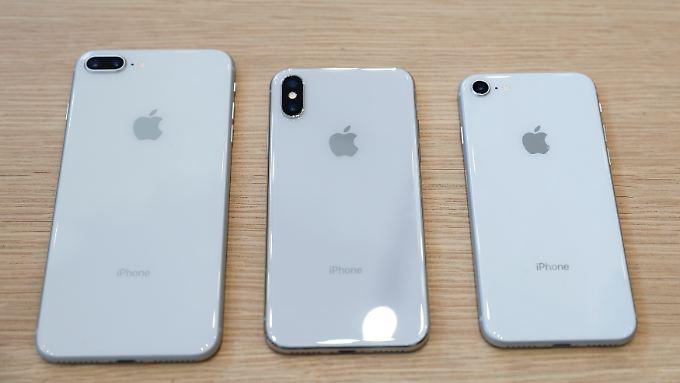 Von hinten sind alle drei neuen iPhones attraktiv, aber nur das X hat eine moderne Vorderseite.