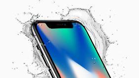 Auch das iPhone X ist wasserdicht.