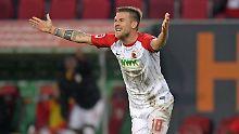Der Sport-Tag: DFB sperrt Augsburgs Baier nach obszöner Geste
