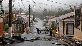 """Die Behörden hatten zum Schutz vor """"Maria"""" 500 Notunterkünfte auf Puerto Rico eingerichtet."""