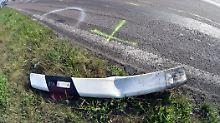 Der verunglückte Motorradfahrer starb noch an der Unfallstelle.