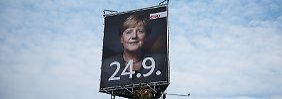 Kanzlerin im Wahlkampf: Merkel streichelt keine Flüchtlinge mehr