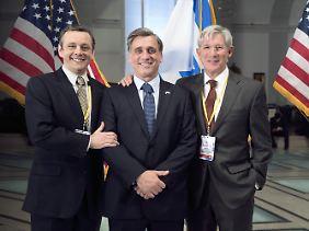 Michael Sheen, Lior Ashkenazi und Richard Gere in einem guten Moment.
