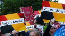 Gegner stören CSU-Kundgebung: Parteien bestreiten Endspurt um Wählergunst