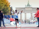 Super-Marathon auch ohne Rekord: Kipchoge triumphiert beim Favoritensterben