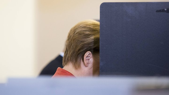 Angela Merkel bei der Wahl. Sie hat vermutlich die CDU gewählt.