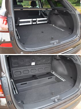 Platz gibt's im Gepäckabteil des Hyundai i30 Kombi reichlich und aufgeräumt ist es auch.