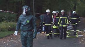 Stundenlanger Feuerwehreinsatz in NRW: Kinder finden Salzsäure beim Spielen