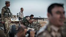 Peschmerga-Kämpfer in der Nähe der irakischen Stadt Hawija.