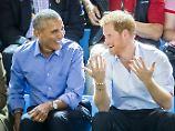 Überraschung in Kanada: Prinz Harry sieht mit Barack Obama Spiel an